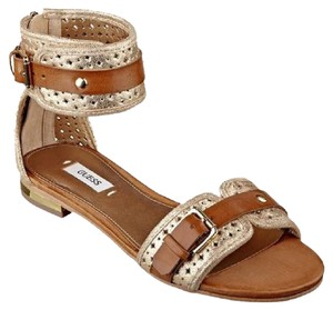 Guess gold luggage Sandals