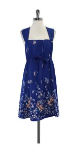 Yumi Kim short dress Blue & Pink Floral Print Silk on Tradesy