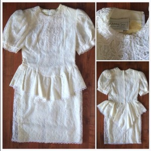 Jessica McClintock Vintage 1970s Gunne Sax Wedding Dress Wedding Dress