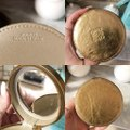 Loewe Anagram Gold Leather Round Travel / Jewelry / Cosmetic / coin Case Image 2