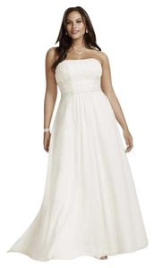 David's Bridal Chiffon Empire Waist Plus Size Wedding Dress Wedding Dress