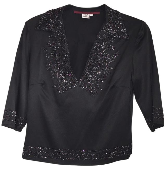 Preload https://img-static.tradesy.com/item/20647503/black-satin-silk-tunic-heavy-ab-peacock-beading-4-6-night-out-top-size-6-s-0-4-650-650.jpg