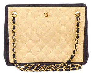 Chanel Straw Chain Tote in Navy