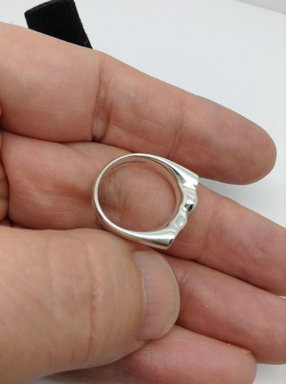 Tiffany & Co. sterling double full hearts, designer ring Image 1