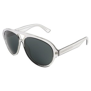 DSquared Dsquared Crystal Grey/Black Tear-Drop Aviator sunglasses