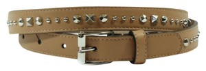 Gucci Gucci 380561 Studded Leather Belt Camelia 90-36