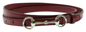 Gucci Gucci 282349 Horsebit Leather Skinny Belt Regent 80-32