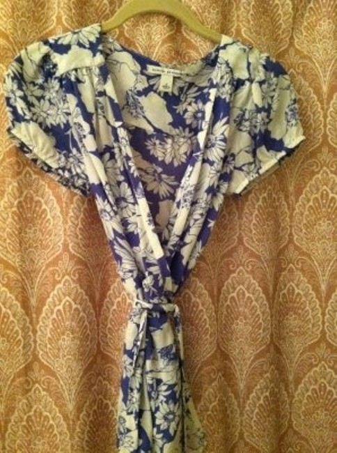 Banana Republic Top white/ blue