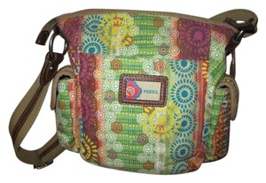 Fossil Canvas Man Made Cross Body Bag