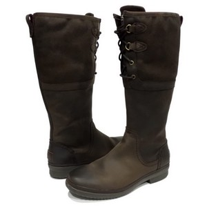 UGG ELSA STOUT TALL WATERPROOF LEATHER RAIN SNOW boots brown Boots