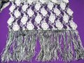 Long Woman's Scarf Long Silvery Woman's Scarf Image 1