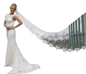 Handmade Cathedral Length Veil - 1 Tier