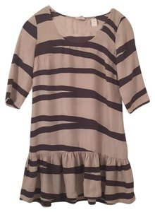Sunshine & Shadow short dress brown and beige stripes on Tradesy