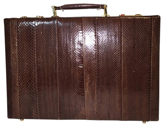Preload https://item1.tradesy.com/images/snakeskin-attache-case-with-leather-trim-by-romano-venician-roxanne-anjou-closet-laptop-bag-2064820-0-0.jpg?width=440&height=440