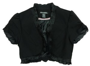 Stooshy Bolero Ruffle Rocker Party Top Black