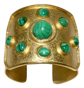 Stephanie Kantis Stephanie Kantis REJOICE Malachite Cuff Bracelet 24k plate Power Piece