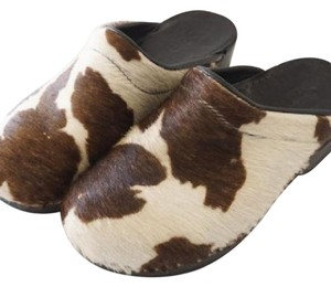 Sanita brown, cream Mules