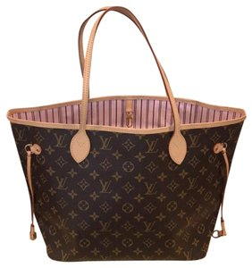 Louis Vuitton Monogram Rose Neverfull Neverfull Mm Rose Ballerine Rose Tote