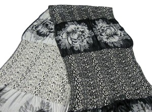 Collections Eighteen Long Stretchy Black and White Scarf