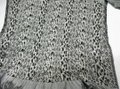 Collections Eighteen Long Stretchy Black and White Scarf Image 1
