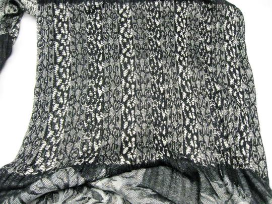Collections Eighteen Long Stretchy Black and White Scarf Image 3