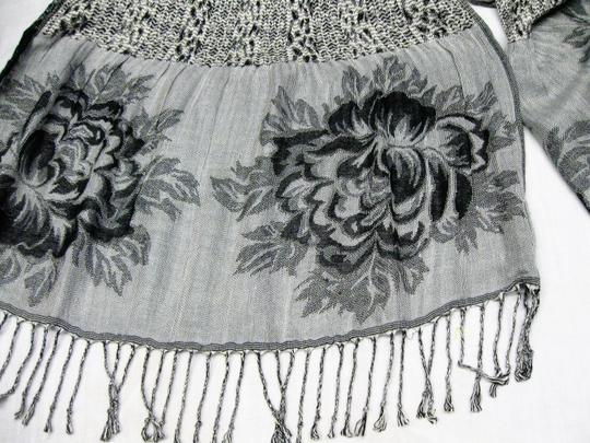 Collections Eighteen Long Stretchy Black and White Scarf Image 4