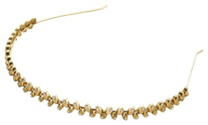 Anthropologie Gold metal & Glass headband
