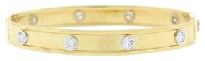 Other 1.50 Ct. Diamond All Around Bezel Bangle Screw Open & Close 14k Yellow
