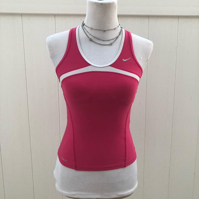 Nike White and Pink XS Athletic Activewear Top Size 0 (XS) Nike White and Pink XS Athletic Activewear Top Size 0 (XS) Image 1
