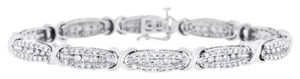 Other 4.50 CT Natural Diamond X Fashion Tennis Bracelet in Solid 10k White