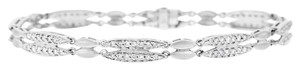 Other 2.00 Ct. Natural Diamond Bracelet Double Row Design Solid 14k White