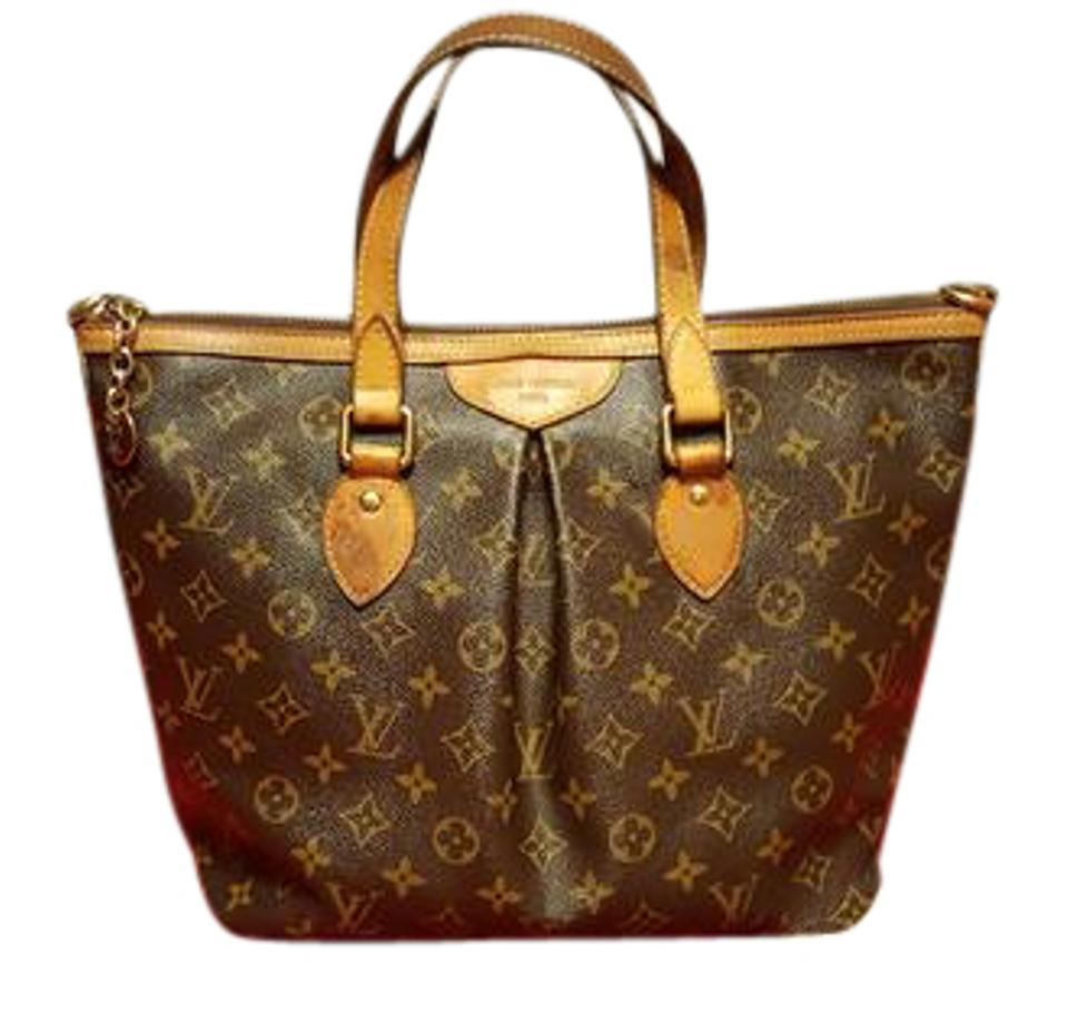 75d6d21ef064 Louis Vuitton Canvas Leather Monogram Gold Hardware Satchel in Brown Image  0 ...