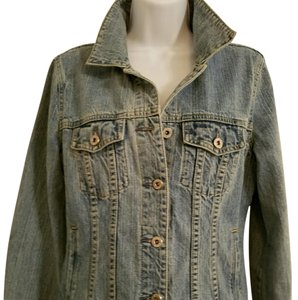 J.Crew Distressed washed out denim Womens Jean Jacket