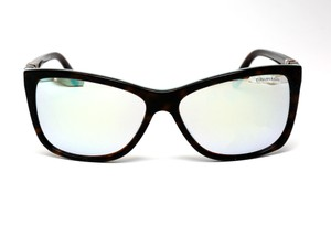Tiffany & Co. Silver Cat Eye Havana Sunglasses