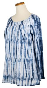 J. Jill Tie-dyed Long-sleeve Tee Tunic
