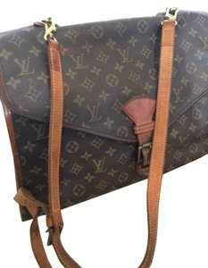 Louis Vuitton Lv France Tote Handbag Vintage Brown Monogram Messenger Bag