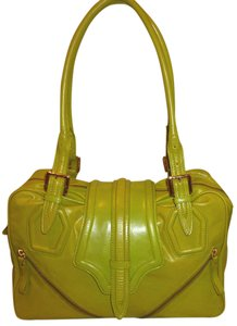 Kate Landry Refurbished Leather Green X-lg Lined Hobo Bag