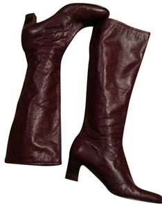 Not Rated Leather Tall burgundy Boots