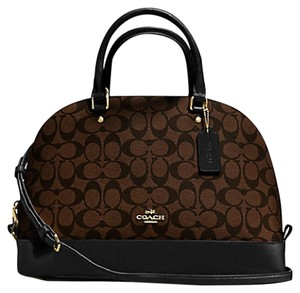 Coach F37233 37233 Sierra Satchel in Gold/Black/Brown