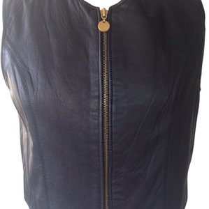 Studio Siena black leather women jacket Top