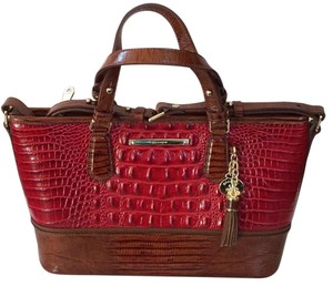 Brahmin Satchel in red chutney Vernon