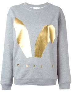 MCQ by Alexander McQueen Bunny Print Cotton Grey Sweatshirt