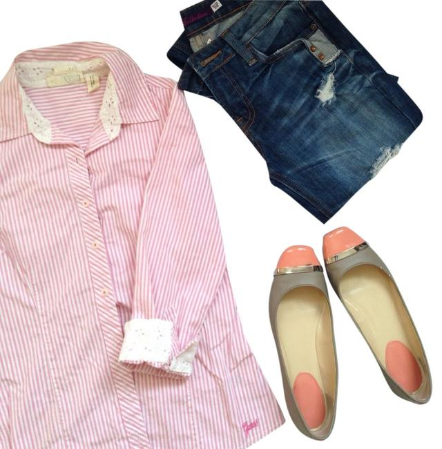 Guess Button Down Shirt Pink