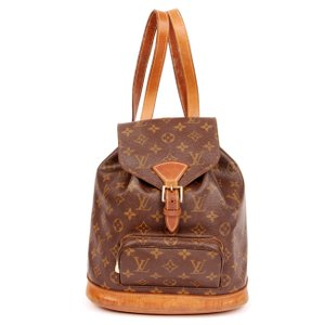 Louis Vuitton Monogram Mm Leather Canvas Leather Backpack