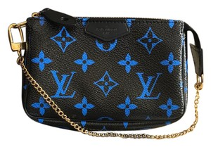 Louis Vuitton Wristlet in Blue/ Black