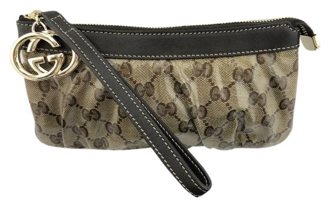 Item - Nwot Monogram Coated Canvas Gg Fob Hardware Brown Patent Leather Wristlet