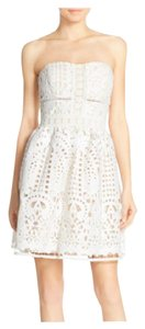 adelyn rae Flare A-line Lace Strapless Dress