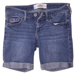 Hollister Cuffed Shorts Blue Jean