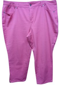 Talbots Blend Crop Pants 20w 5 Pocket Capris Pink
