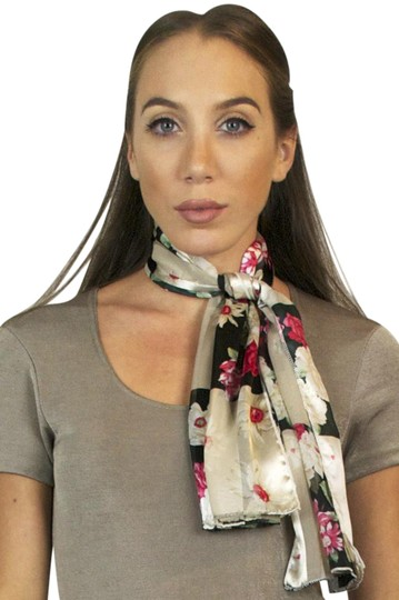 Preload https://img-static.tradesy.com/item/20649075/pink-and-black-vintage-rose-floral-print-lightweight-oblong-scarfwrap-0-1-540-540.jpg